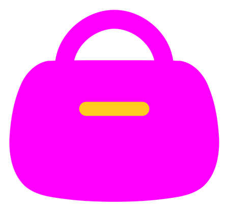 Handbag vector icon symbol. Flat pictogram is isolated on a white background. Handbag pictogram designed with simple style.