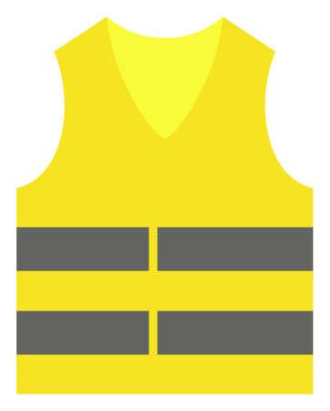 Gelbe Weste-Vektor-Symbol. Flaches Piktogramm ist auf einem weißen Hintergrund isoliert. Gelbes Weste-Piktogramm mit einfachem Stil.