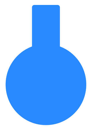 Glass flask vector icon symbol. Flat pictogram is isolated on a white background. Glass flask pictogram designed with simple style.