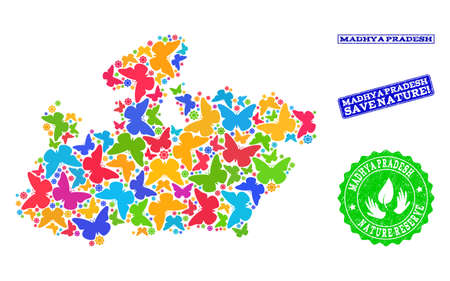 Ecological Collage Of Bright Mosaic Map Of Madhya Pradesh ... on jharkhand state map, gujarat state map, orissa state map, bihar state map, haryana state map, chhattisgarh state map, kerala state map, assam state map, tamil nadu state map, telangana state map, bengal state map, maharashtra state map, karnataka state map, punjab state map, uttaranchal state map, andhra state map,