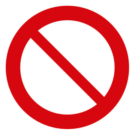 Forbidden icon on a white background. Isolated forbidden symbol with flat style.