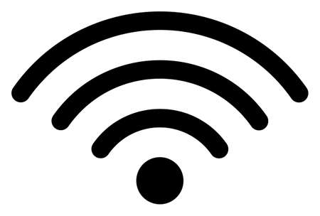 WiFi source icon on a white background. Isolated WiFi source symbol with flat style.