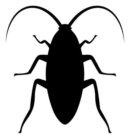 Cockroach icon on a white background. Isolated cockroach symbol with flat style.