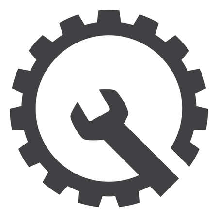 Gear repair icon on a white background. Isolated gear repair symbol with flat style. Reklamní fotografie