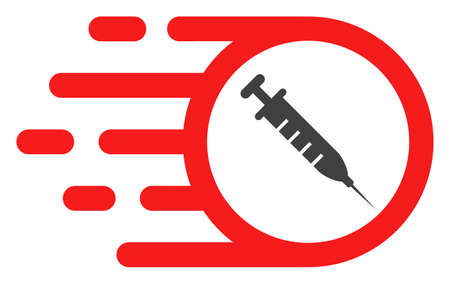 Rush vaccine icon on a white background. Isolated rush vaccine symbol with flat style.