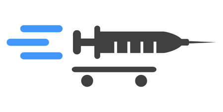 Vaccine delivery icon on a white background. Isolated vaccine delivery symbol with flat style.
