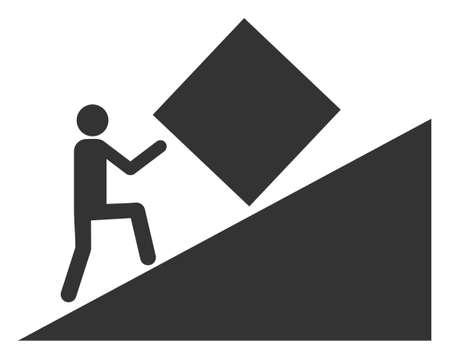 Pointless task icon on a white background. Isolated pointless task symbol with flat style.