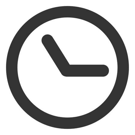 Clock icon on a white background. Isolated clock symbol with flat style.
