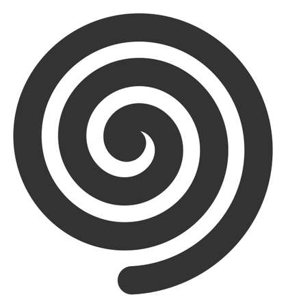 Hypnosis spiral icon on a white background. Isolated hypnosis spiral symbol with flat style. Illusztráció