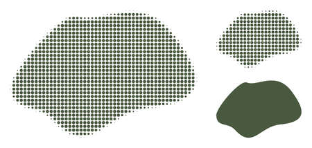 Spot simple halftone dotted icon. Halftone pattern contains circle pixels. Vector illustration of spot simple icon on a white background. Illustration