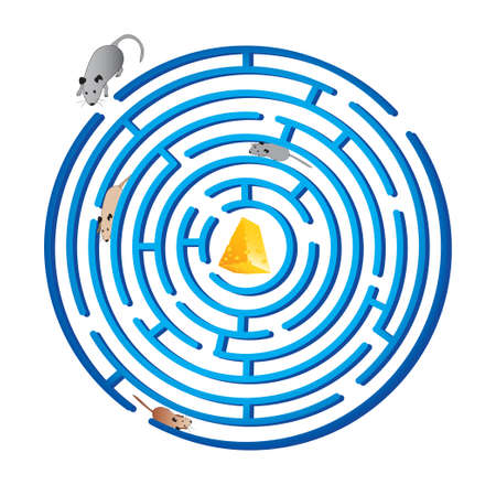 labyrinth: Rat race -  term used to describe an endless, self-defeating pursuit  Labyrinth  cheese