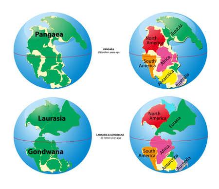chronology: Mapa del mundo de Pangea