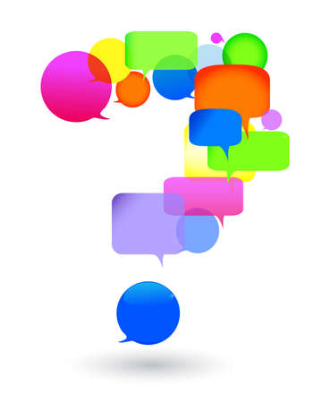 Speech bubble questions and answers social networks talk bubbles