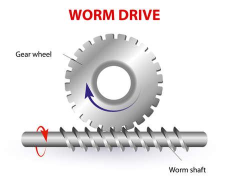 traslados: Gusano unidad Protrusi�n diagrama de la rueda de engranaje entrar en el eje sinf�n para formar un eje Gusano sistema de engranaje es una parte cil�ndrica que transfiere el movimiento de rotaci�n de una parte a otra