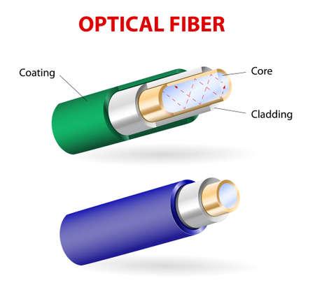 Les fibres optiques sont constituées de verre très pur. Ils ont la capacité de transporter des informations numériques sous la forme de signaux optiques sur de grandes distances. En général, ils se composent de trois parties: noyau, bardage et de revêtement de tampon