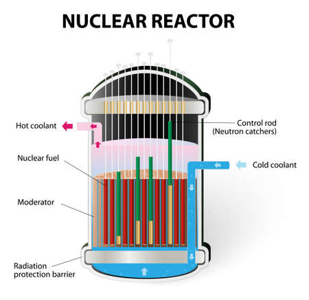 chain reaction: Nuclear Reactor Components Illustration