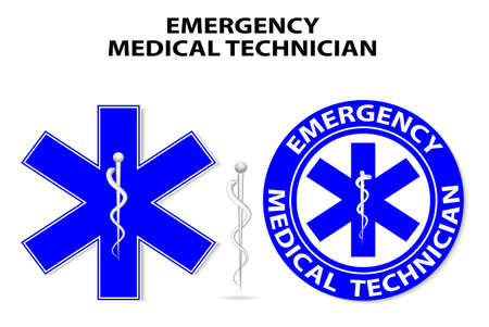 paramedic: Técnico médico de emergencia símbolo mundial Vectores