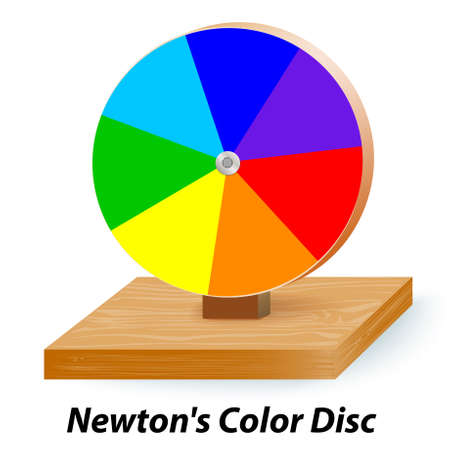Newtons Color Disc Illustration