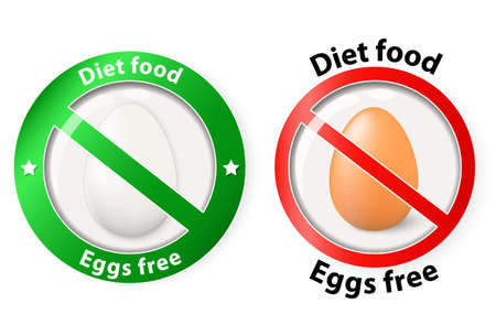 diet food: Two of icons for diet or organic food Illustration