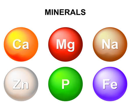 magnesium: Essential chemical minerals or Dietary element. mineral nutrients. minerals and trace minerals are inorganic elements. Human body needs them to grow and stay healthy.