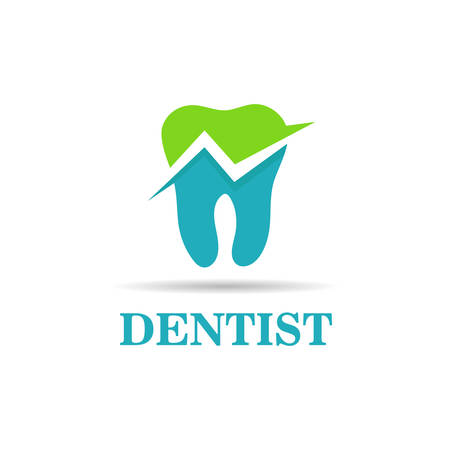 Tooth dental vector symbol
