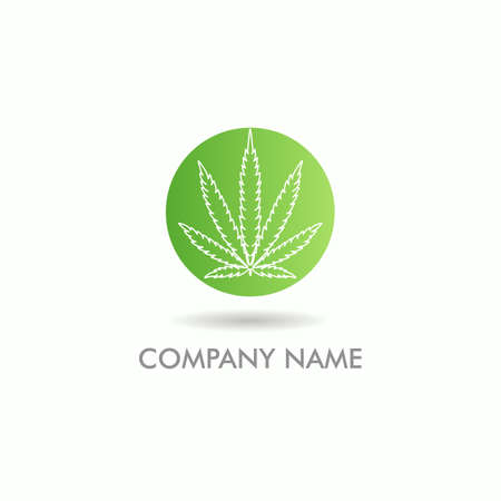 cannabis leaf icon vector logo