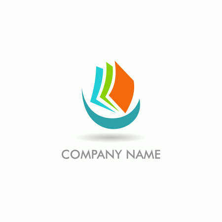 document paper colored business vector logo  イラスト・ベクター素材