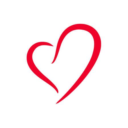 White love heart vector