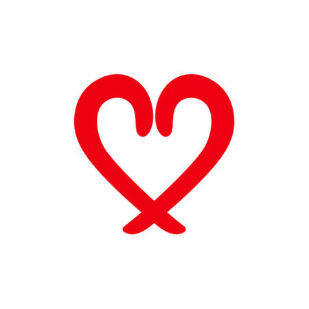 Love sign heart vector icon.