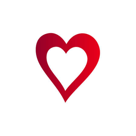 Love sign heart vector icon.