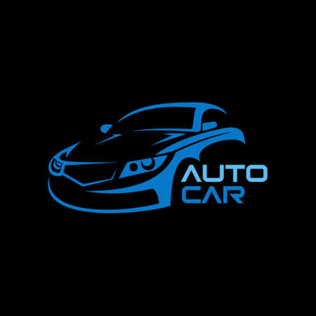 Car auto design logo.