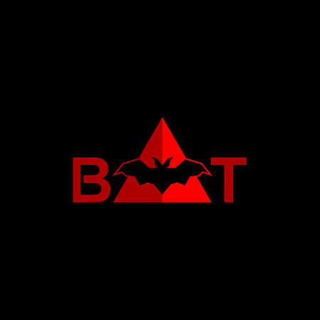 Bat icon on dark background