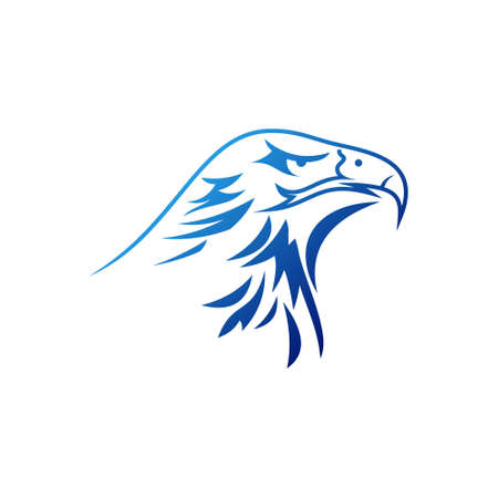eagle head tribal vector symbol