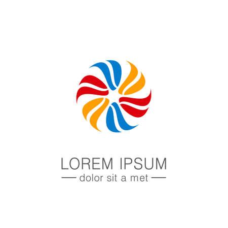 Circle colorful abstract company logo.