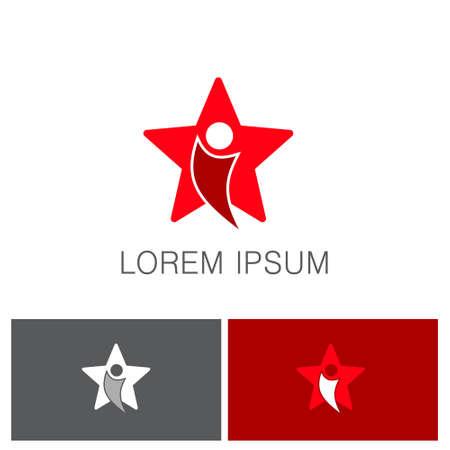 star swoosh logo Illustration