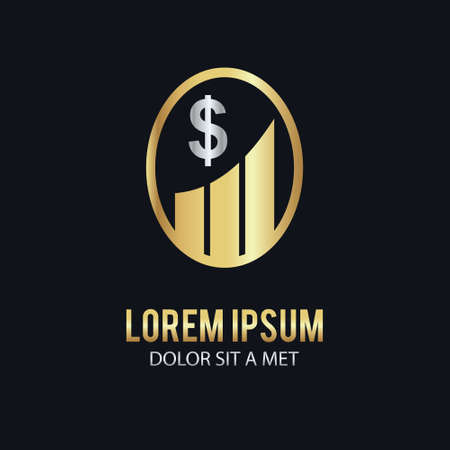 gold money investment business logo
