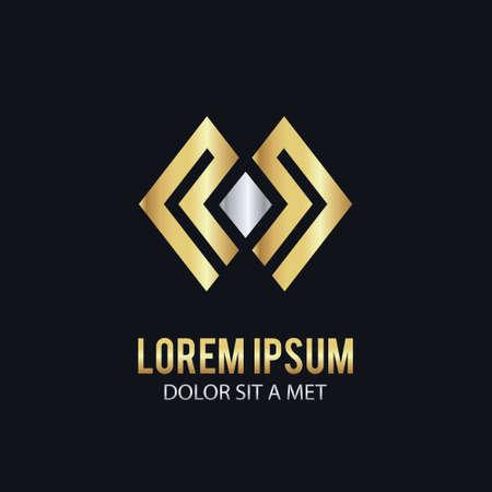 square line gold company logo