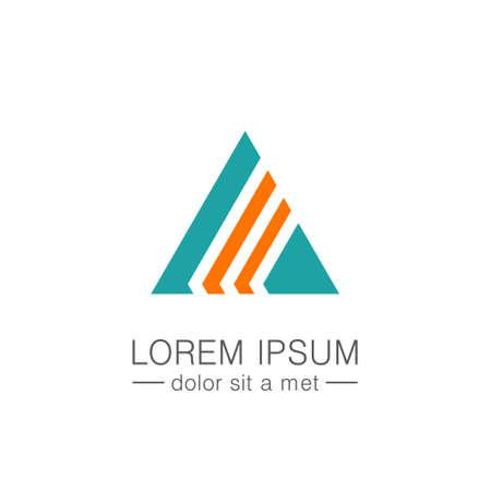 Triangle shape colored logo