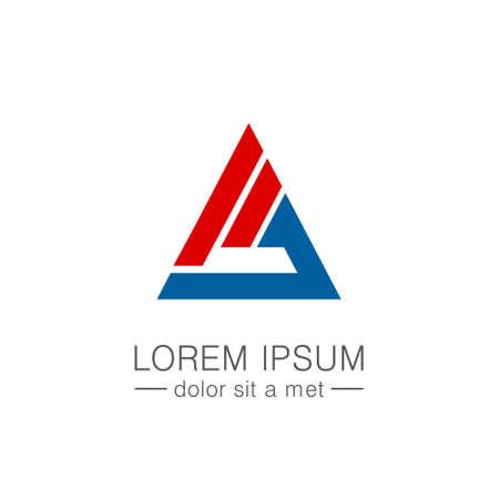 Triangle shape company logo Çizim