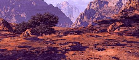 A rugged rocky Utah canyon landscape.  Stock Photo