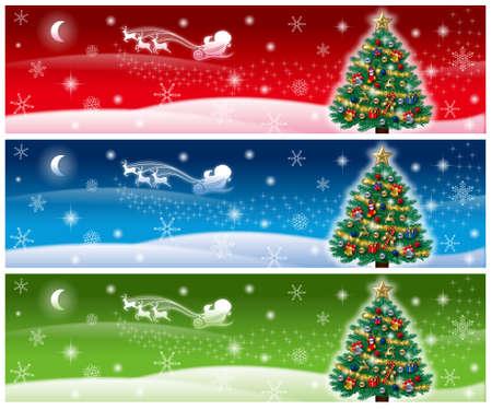 christmas banner Banco de Imagens - 30900225