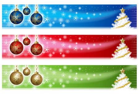 Banner di Natale Archivio Fotografico - 30900226