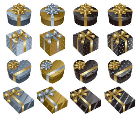 valentines day background: present box Stock Photo