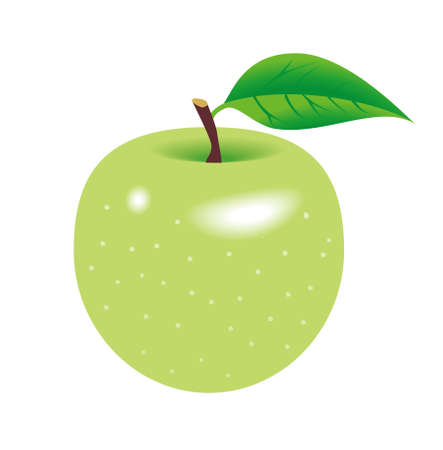 Green apple isolated in white  Stock Photo