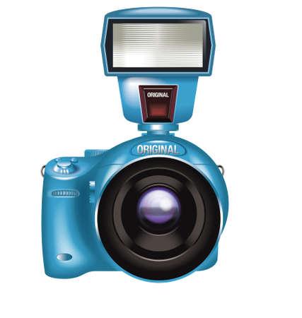 skyblue: camera Stock Photo