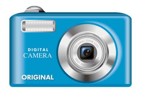 Digital camera,blue photo