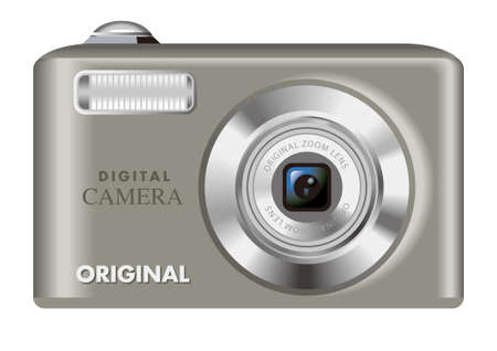 Digital camera,silver photo