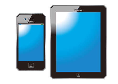 smart phone and tablet Stock Photo