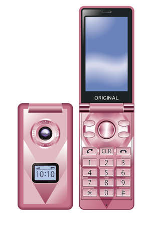Mobile phone,pink photo