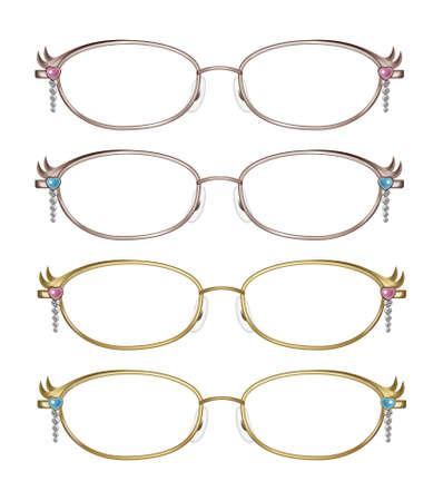 Glasses,gold photo